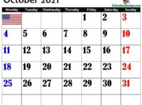 October 2021 USA Calendar