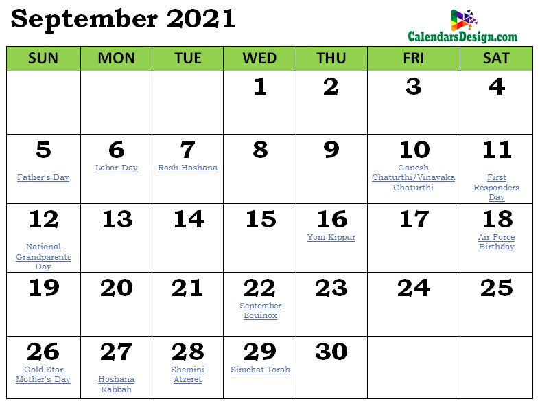 September 2021 Calendar India With Holidays