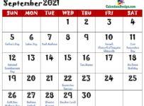 September 2021 Calendar Singapore With Holidays