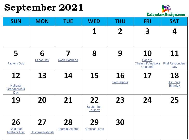 September 2021 Calendar South Africa with Holidays