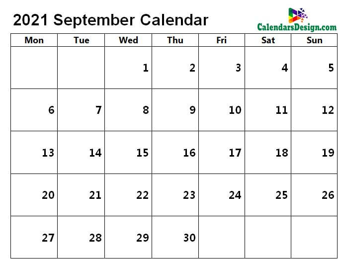 September 2021 Calendar in Page