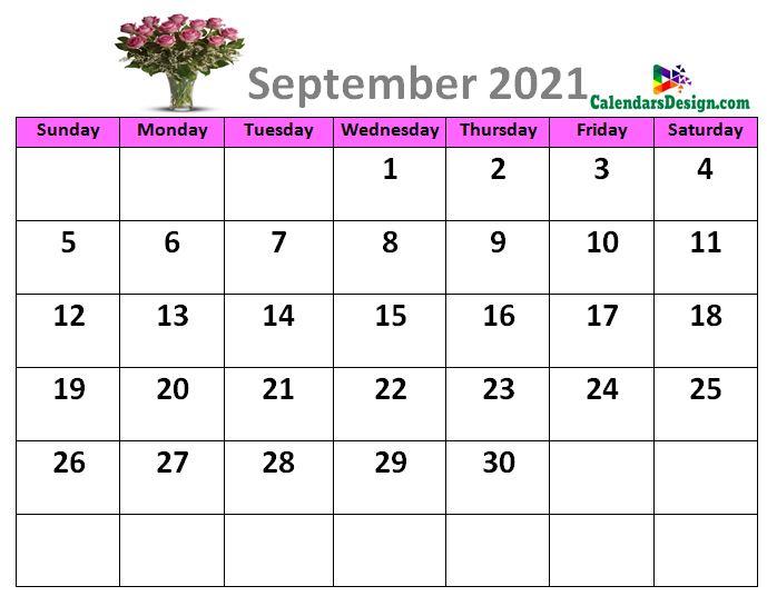 September 2021 calendar designs