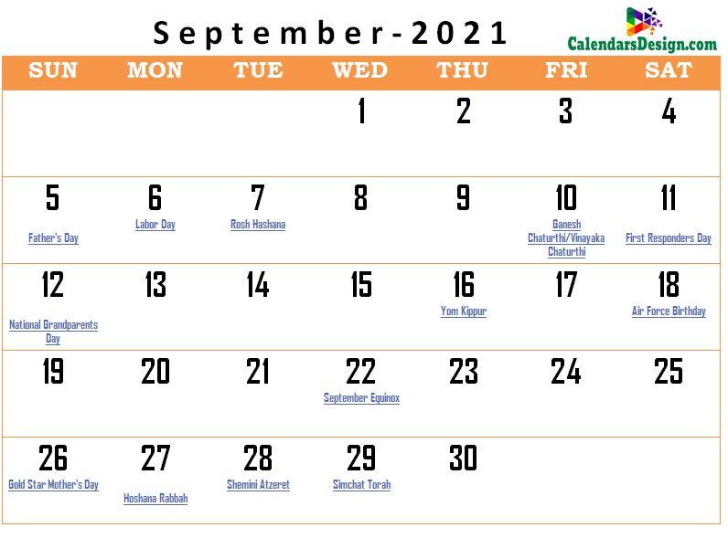 September 2021 calendar usa with holidays all countries