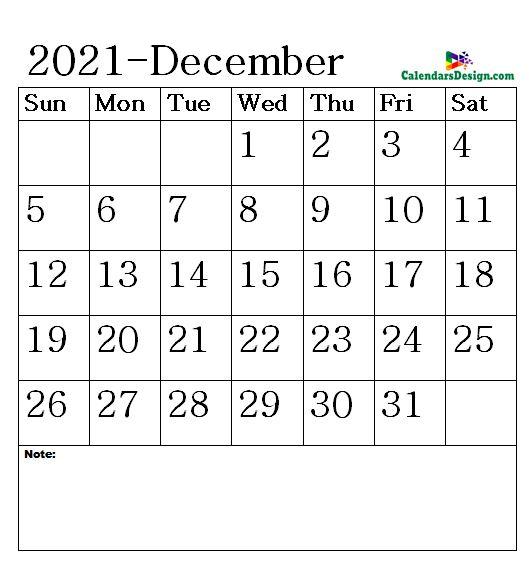 Vertex December Calendar 2021 Printable