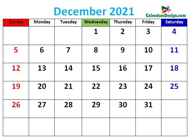 cute December 2021 calendars