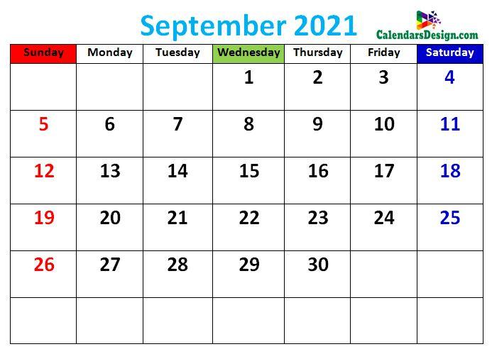 cute September 2021 calendars