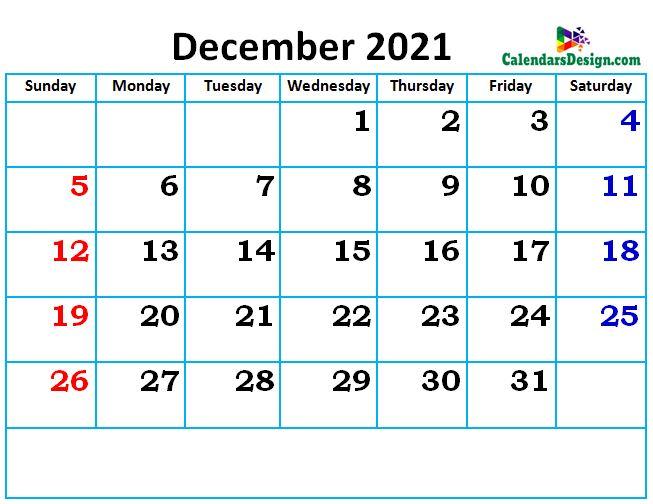 new cute December month calendar designs