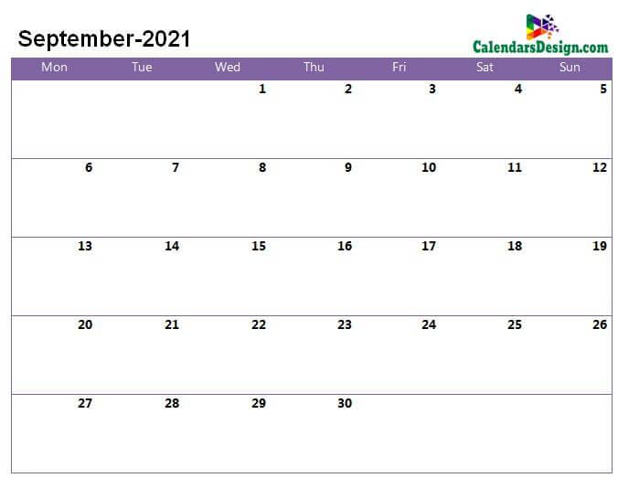 sept 2021 calendar page