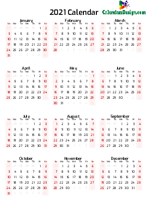 12 month calendar one page printable