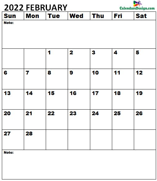 February 2022 Calendar doc