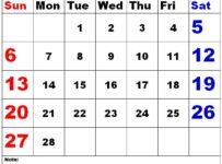 February 2022 Calendar to edit