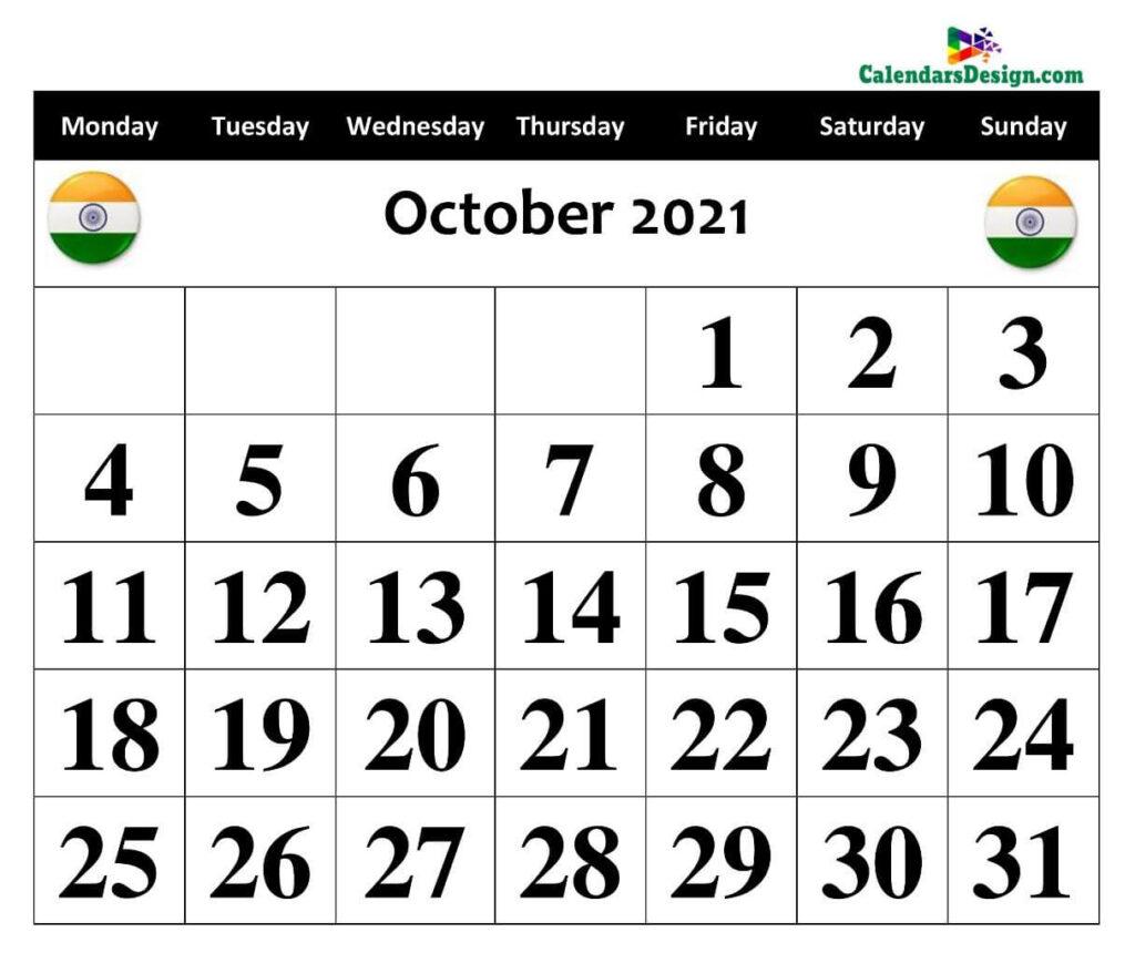 October 2021 Calendar Panchang