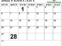 Printable Calendar for February 2022