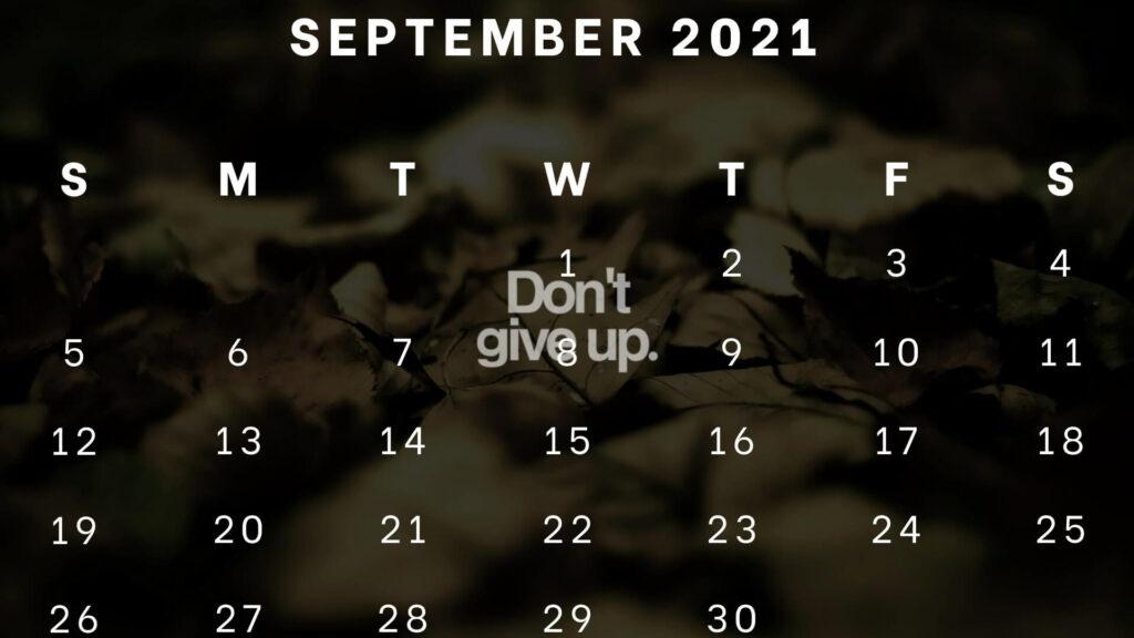 September 2021 Desk Calendar