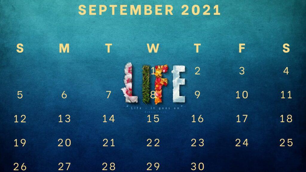 September 2021 wall calendar designs