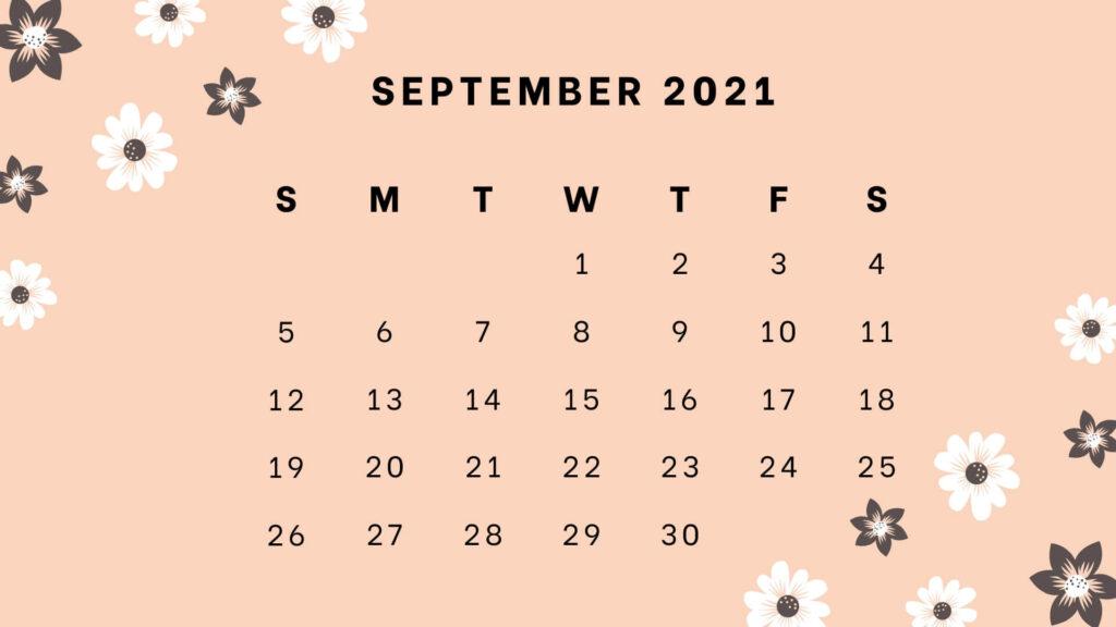 September 2021 wall calendar for home