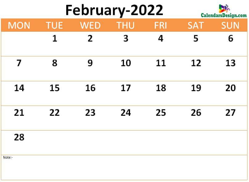 download February 2022 calendar online