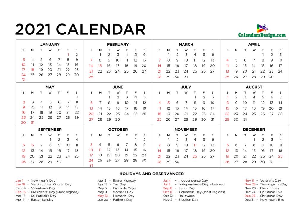 free 12 month calendar templates