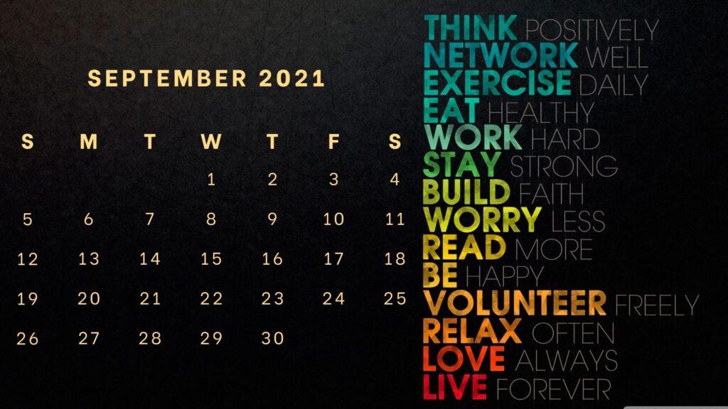 latest September 2021 wall calendar