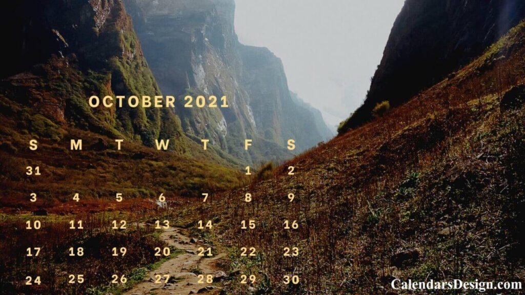 Floral October 2021 Wall Calendar