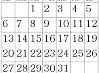 March 2022 Calendar letter