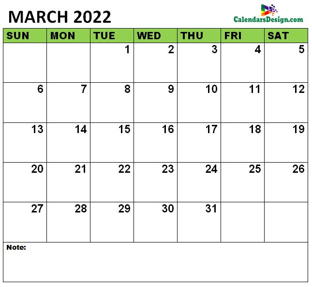 March 2022 Calendar vertex