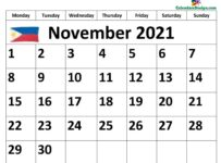 November 2021 Philippines calendar