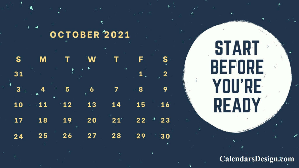 October 2021 Calendar Tumblr