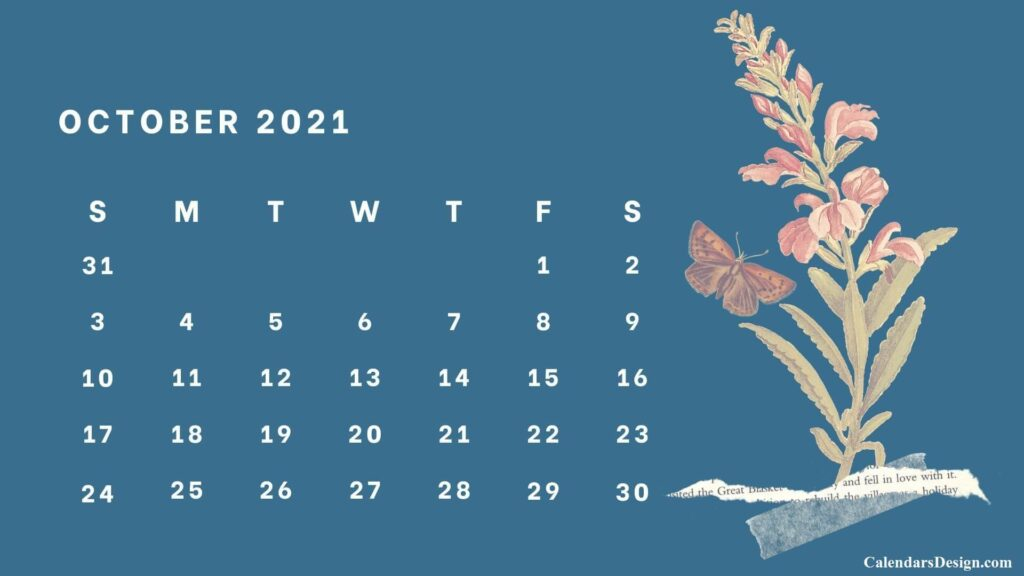 October 2021 Wall Calendar