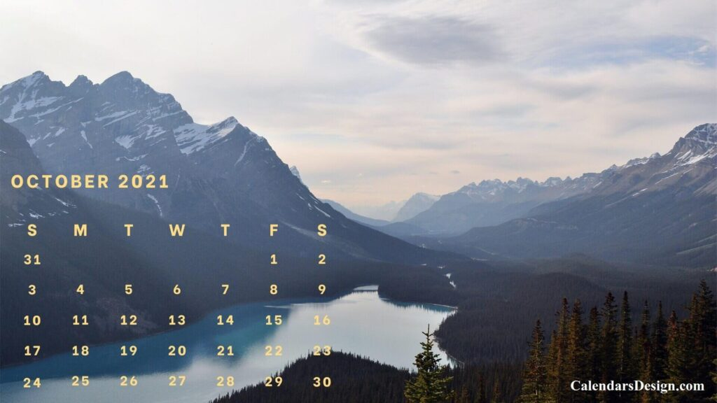 October 2021 wall calendar designs