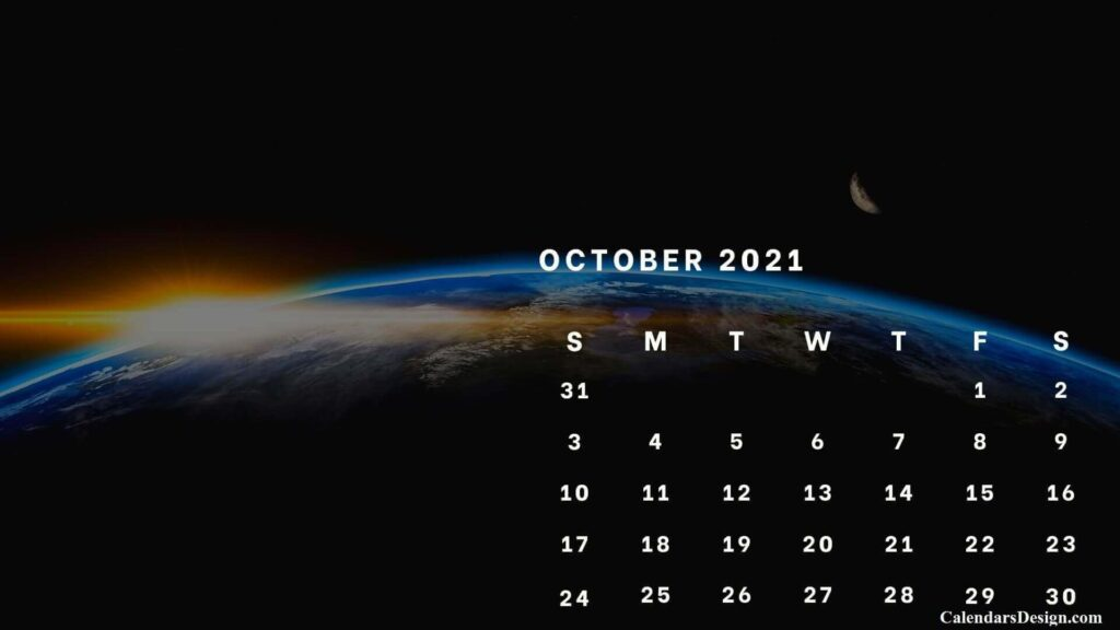 latest October 2021 wall calendar