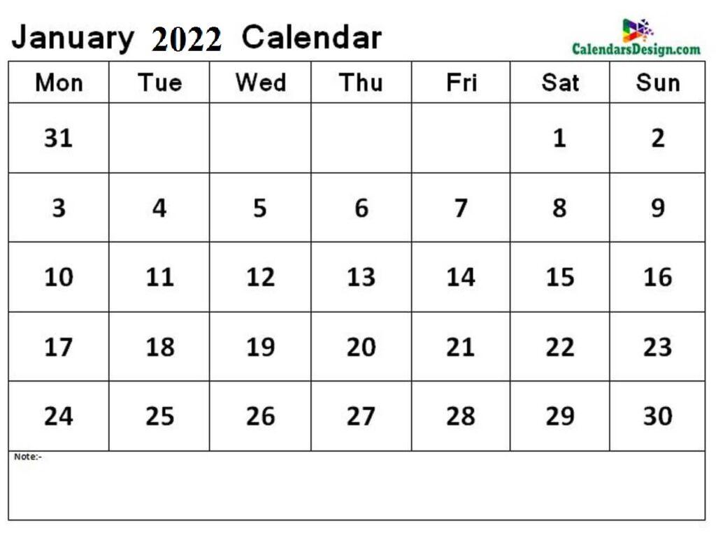 January 2022 calendar jpg